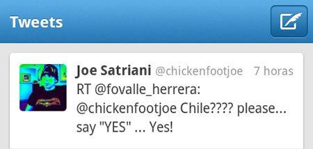 Joe Satriani Twitter