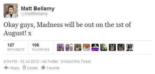 El tweet de Matt Bellamy