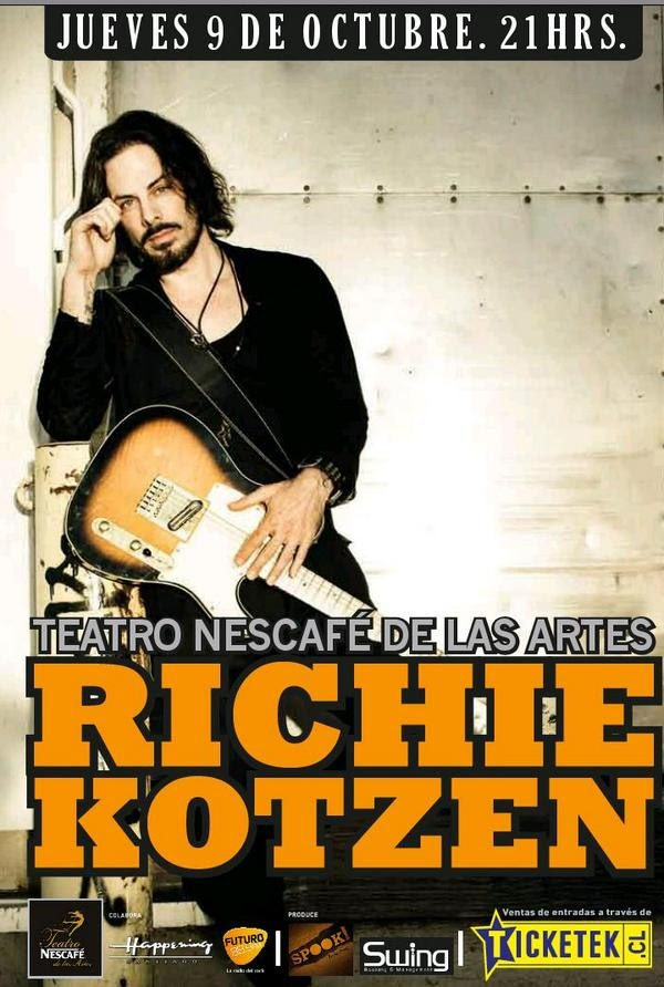 Richie Kotzen 2014 Chile afiche