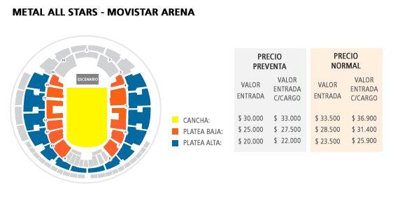 Metal All Stars  @ Movistar Arena | Santiago | Región Metropolitana de Santiago | Chile