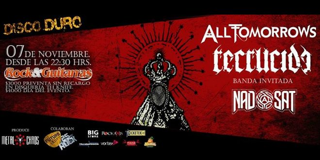 All Tomorrows, Recrucide Y NadSat @ Club Rock & Guitarras | Santiago | Región Metropolitana de Santiago | Chile