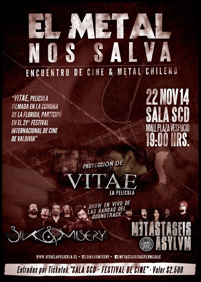 El Metal Nos Salva - Encuentro de Cine y Metal Chileno @ Sala SCD Plaza Vespucio | Santiago | Región Metropolitana | Chile