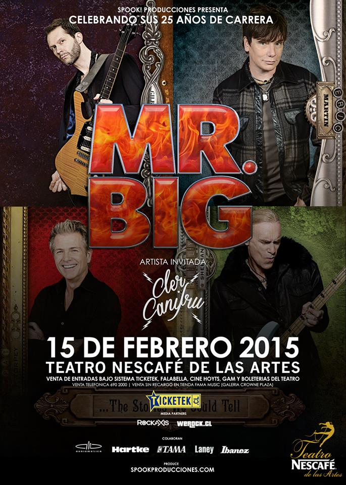 Mr. Big en Chile 2015 Afiche