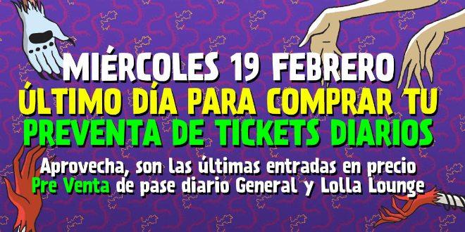 FIN PREVENTA LOLLAPALOOZA CHILE 2014 CLSK Promo