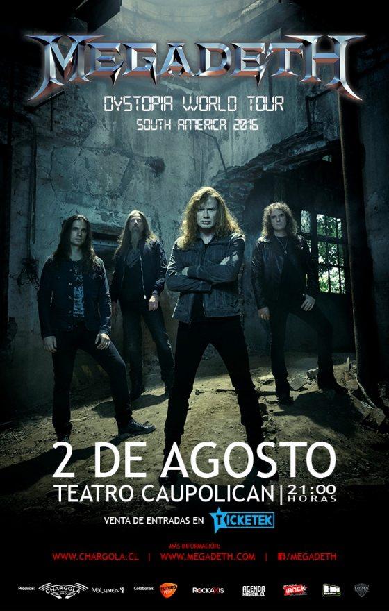 Afiche Web Megadeth 2016