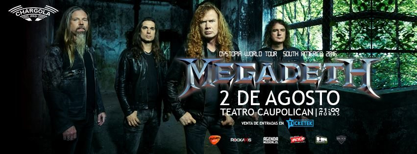 Megadeth 2016 Chile Portada1