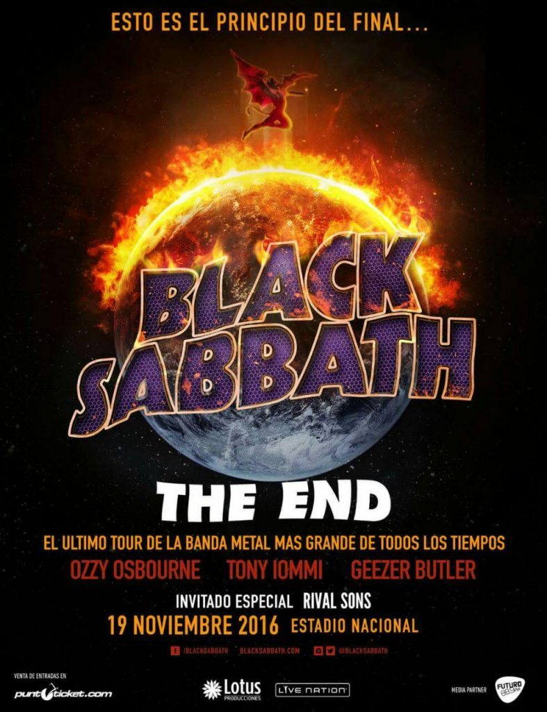 Black Sabbath - The End Chile 2016