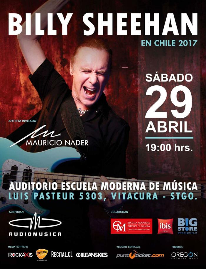 Billy Sheehan Chile 2017 - Escuela Moderna de Música - Mauricio Nader
