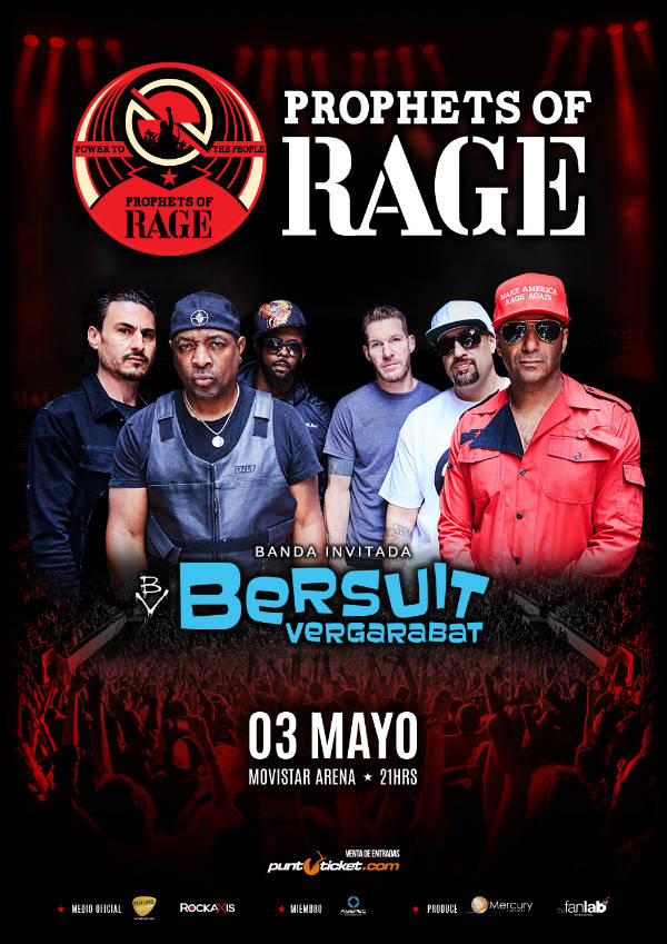 Prophets of rage+Bersuit AFICHE 2017 Chile