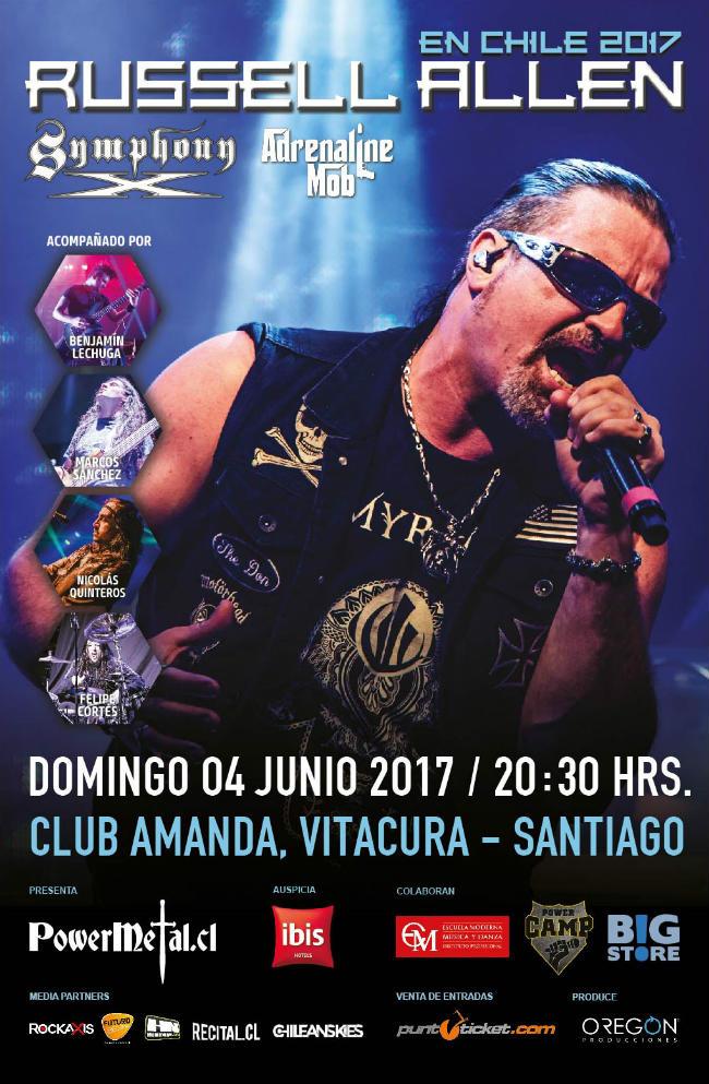 Afiche Oficial RUSSELL ALLEN EN CHILE 2017 opt