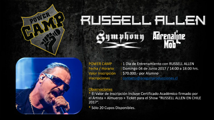 Promo Power Camp RUSSELL ALLEN EN CHILE 2017 opt