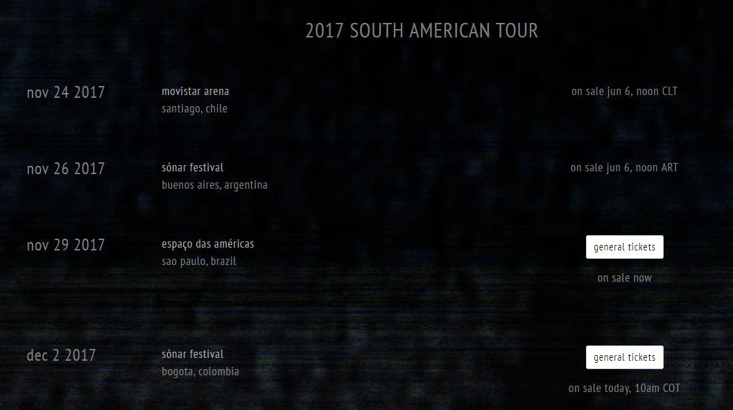 Sigur Ros Chile World Tour Fechas Sudamérica 2017