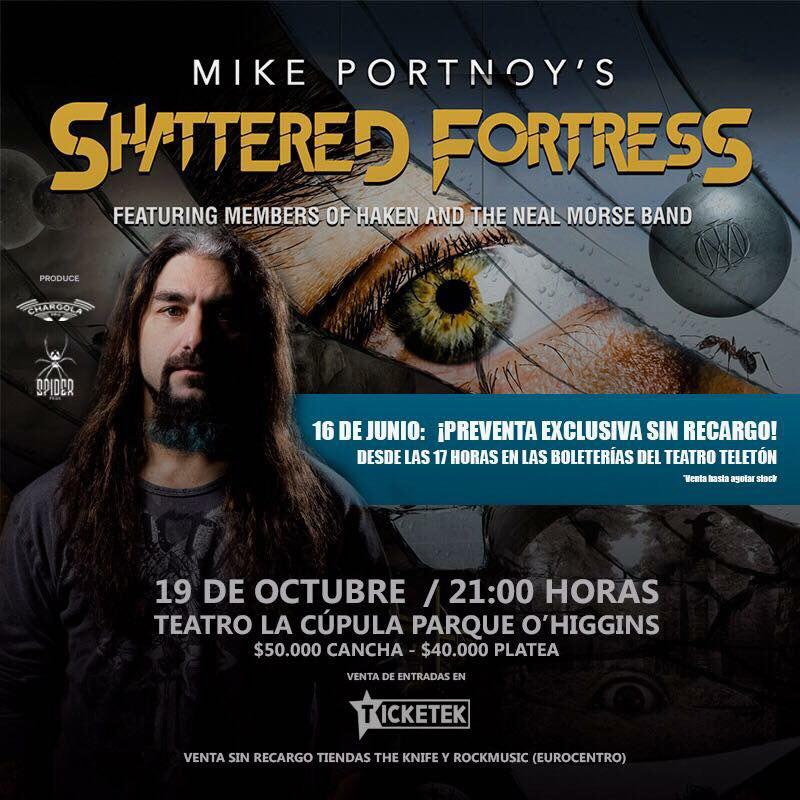 Mike Portnoy Shattered Fortress Chile 2017