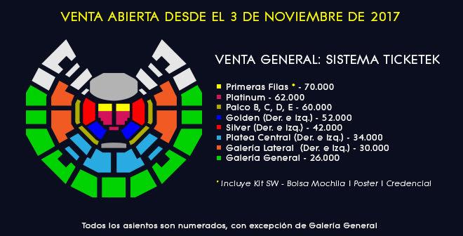Steven Wilson - Mapa de ubicaciones - Teatro Caupolicán