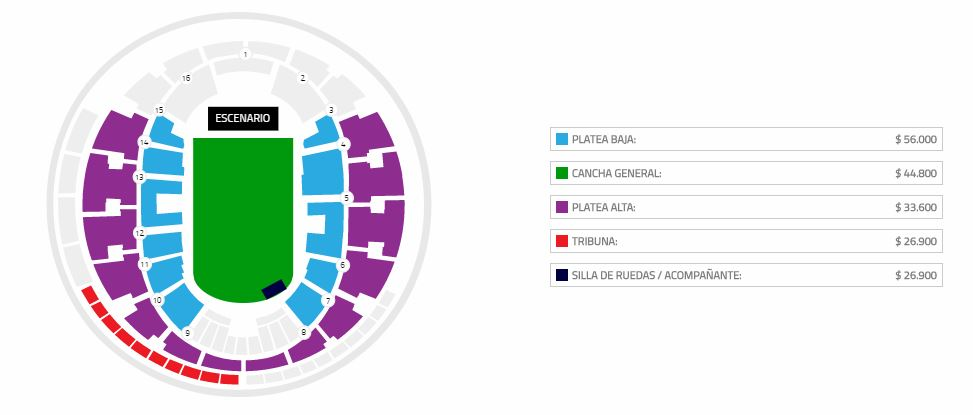 Queens of the Stone Age chile 2018 Mapa