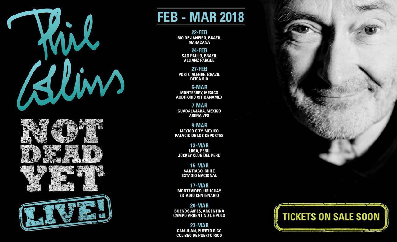 Phil Collins Not Dead Yet 2018 Sudamérica