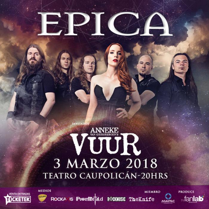 Epica - VUUR en Chile (2018) 700x700