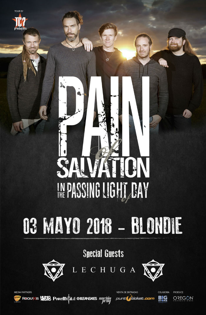 Pain of Salvation - Chile - Afiche Mayo 2018